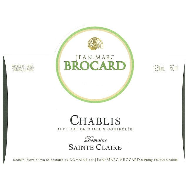 Brocard Sainte Claire Chablis (375ML half-bottle) 2014 Front Label