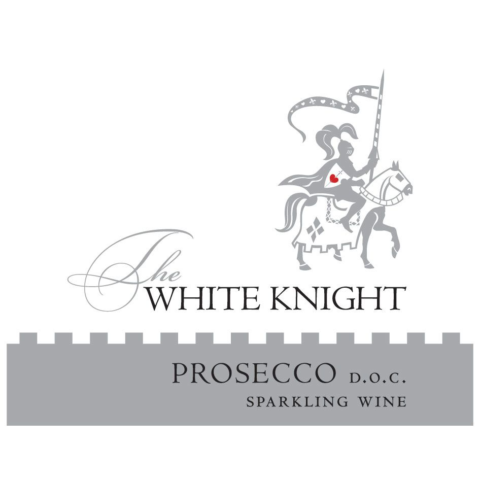 The White Knight Prosecco Front Label