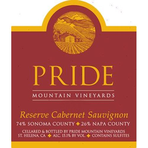 Pride Mountain Vineyards Reserve Cabernet Sauvignon 2012 Front Label