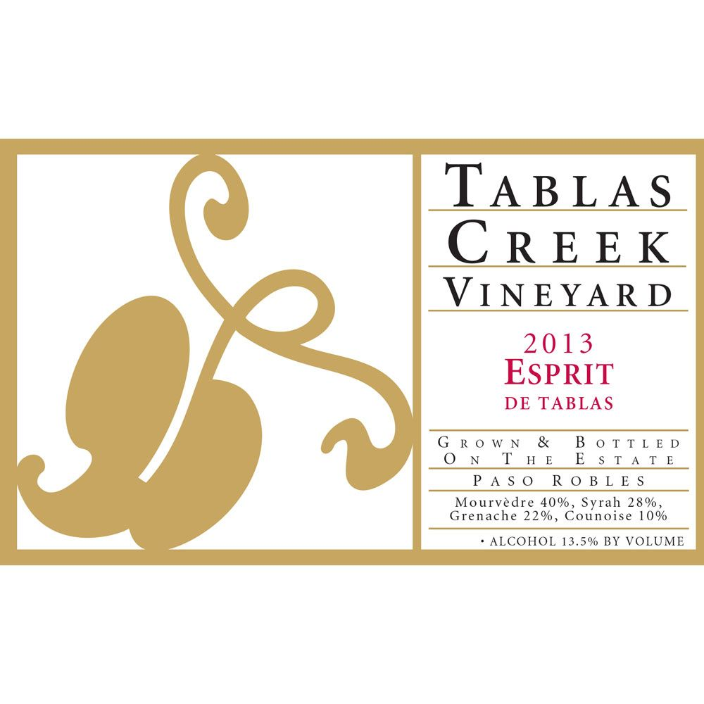 Tablas Creek Esprit de Tablas Rouge (375ML half-bottle) 2013 Front Label