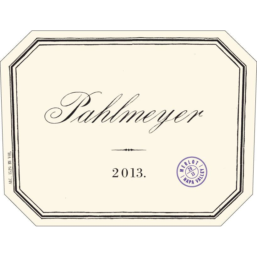 Pahlmeyer Merlot 2013 Front Label