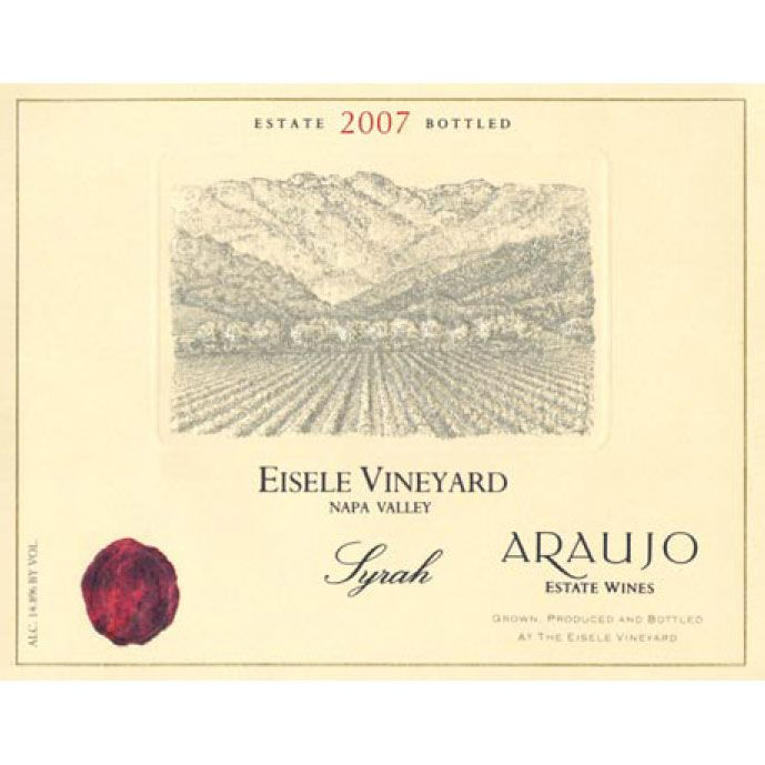 Araujo Eisele Vineyard Syrah 2007 Front Label