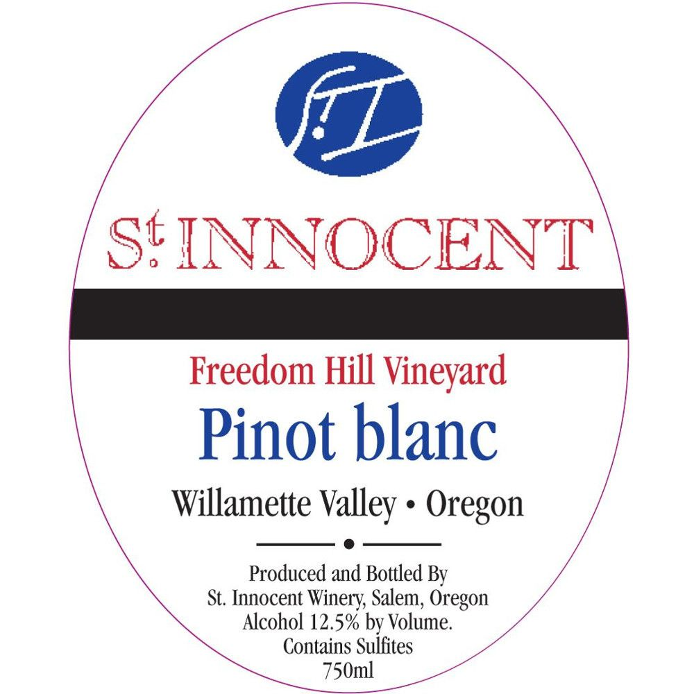 St. Innocent Freedom Hill Pinot Blanc 2014 Front Label