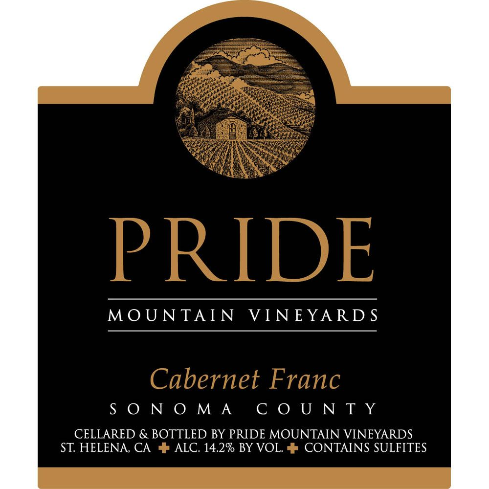 Pride Mountain Vineyards Cabernet Franc 2007 Front Label