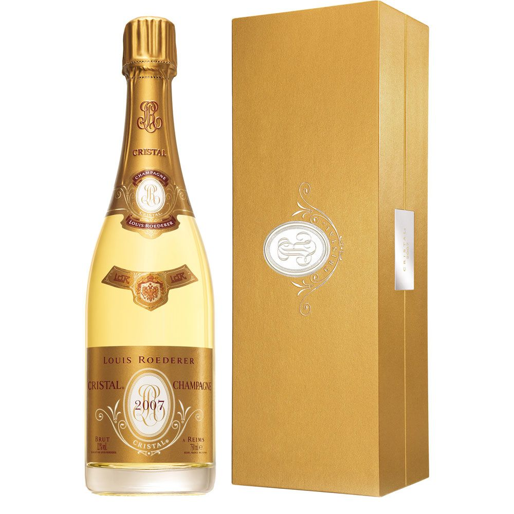 Louis Roederer Cristal Brut with Gift Box 2007 Front Label