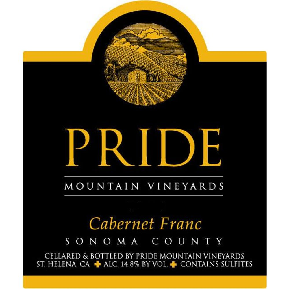 Pride Mountain Vineyards Cabernet Franc 2012 Front Label