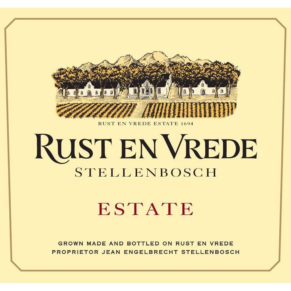 Rust en Vrede Stellenbosch Estate Red Blend 2012 Front Label