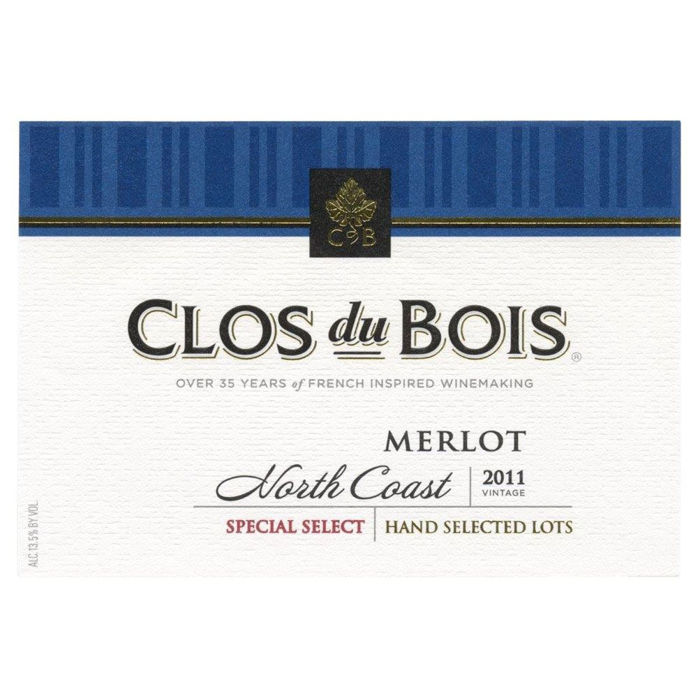 Clos du Bois California Merlot (375ML half-bottle) 2011 Front Label