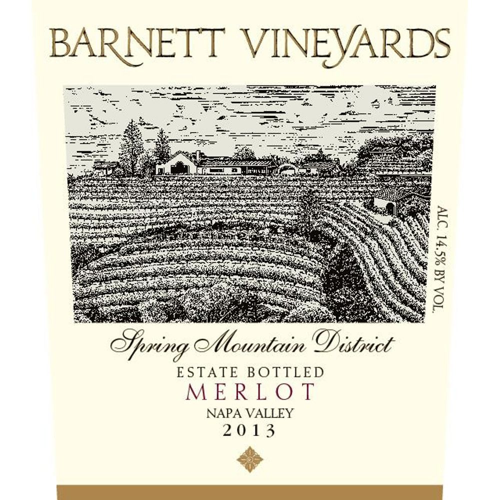 Barnett Vineyards Spring Mountain Merlot 2013 Front Label