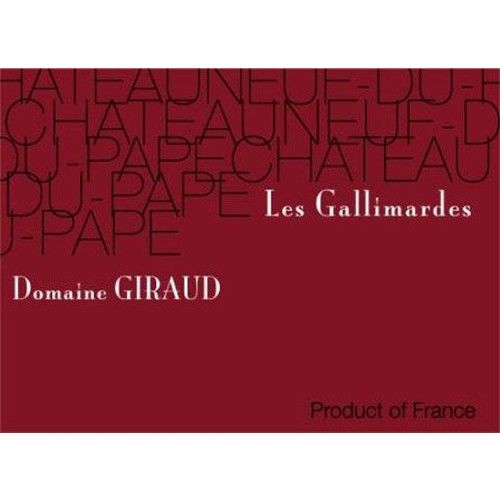 Domaine Giraud Chateauneuf-du-Pape Gallimardes 2011 Front Label