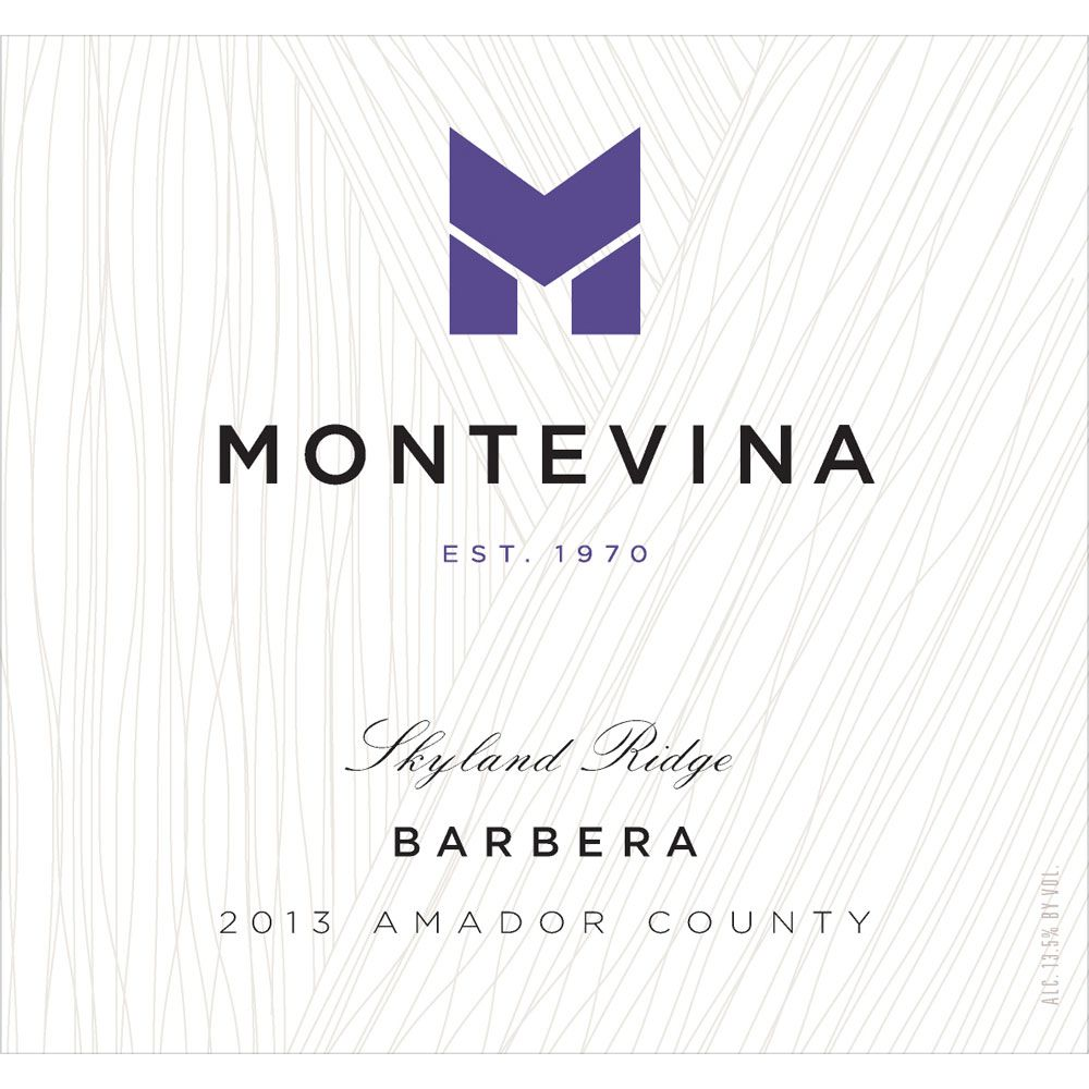 Montevina Barbera 2013 Front Label
