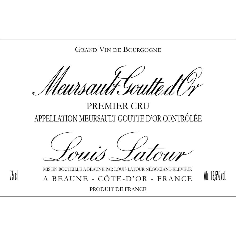 Louis Latour Meursault Goutte d'Or 2009 Front Label