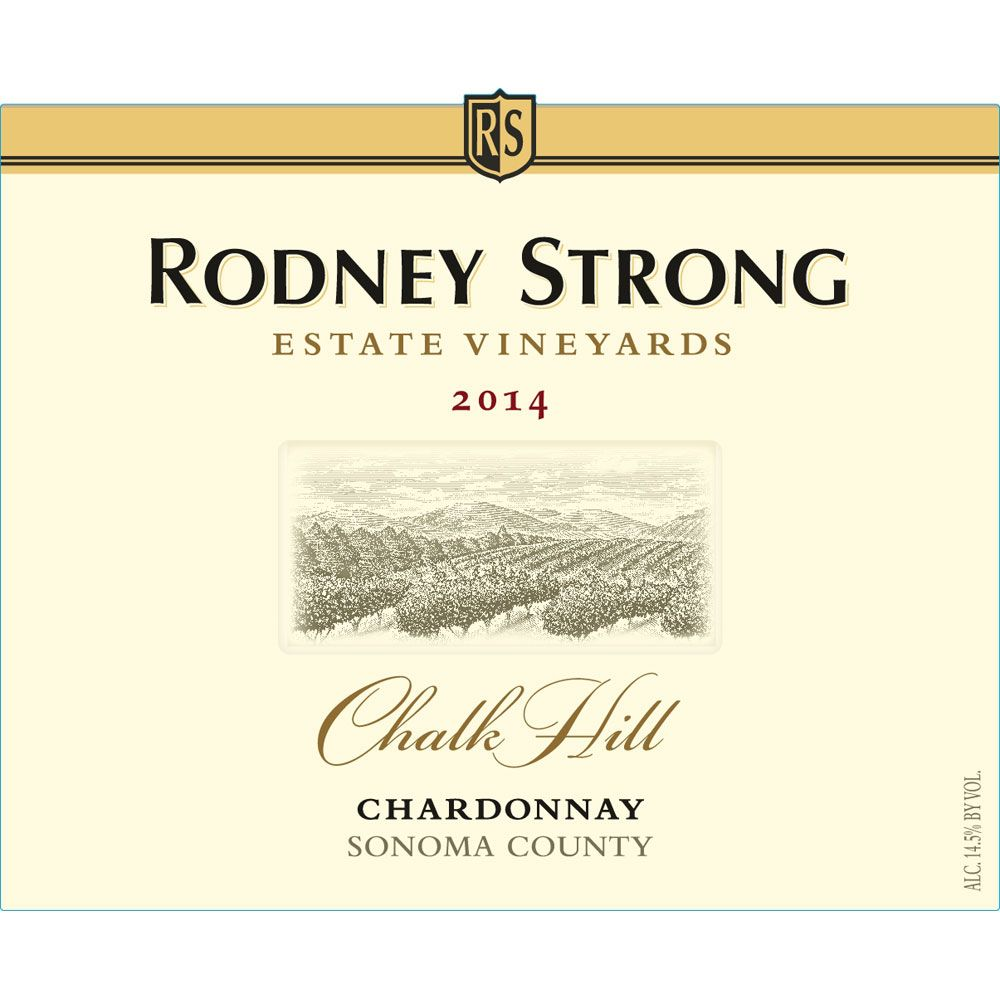 Rodney Strong Chalk Hill Chardonnay 2014 Front Label