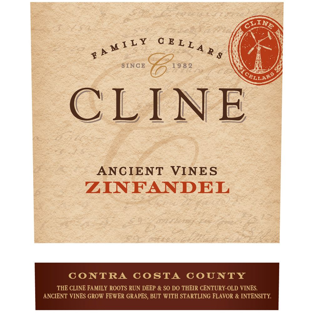 Cline Ancient Vines Zinfandel (375ML half-bottle) 2014 Front Label