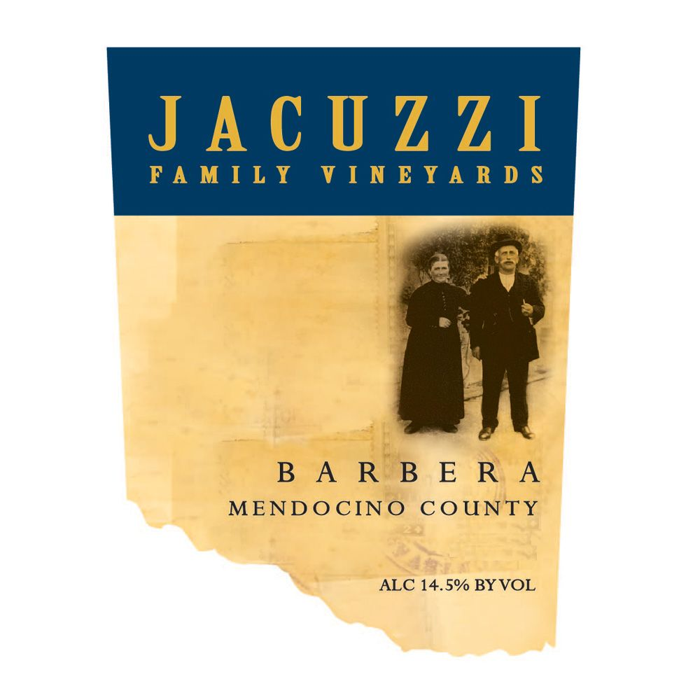 Jacuzzi Barbera 2012 Front Label