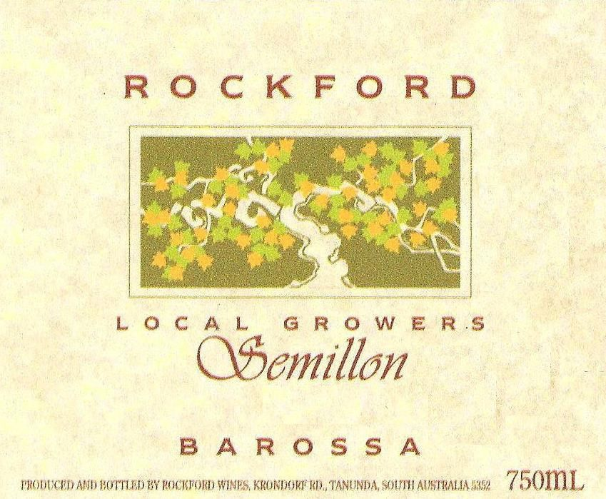 Rockford Local Growers Semillon 2012 Front Label