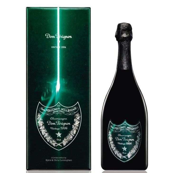 Dom Perignon Limited Edition Gift Box by Bjork & Chris Cunningham 2006 Front Label