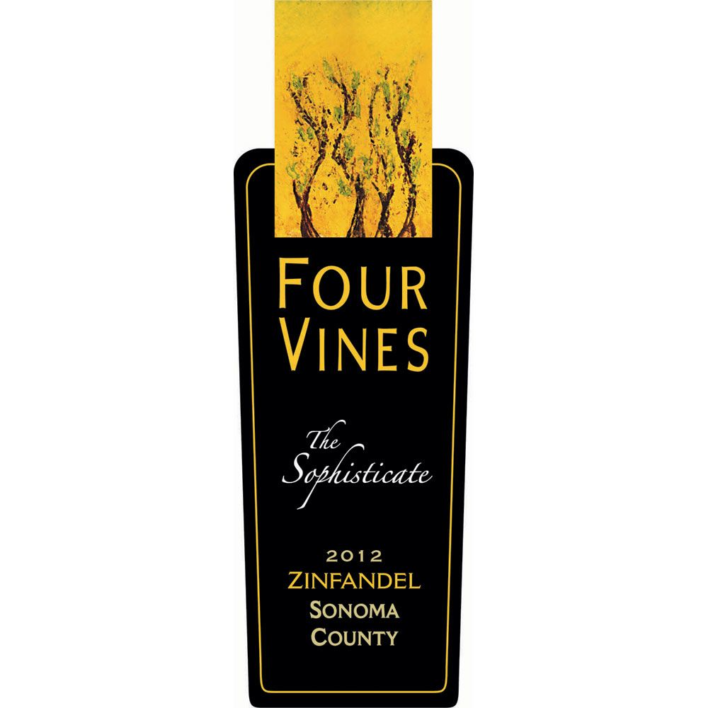Four Vines The Sophisticate Zinfandel 2012 Front Label
