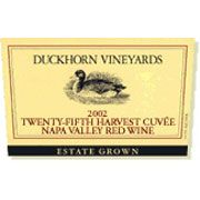 Duckhorn Estate Grown 25th Harvest Cuvee 2002 Front Label