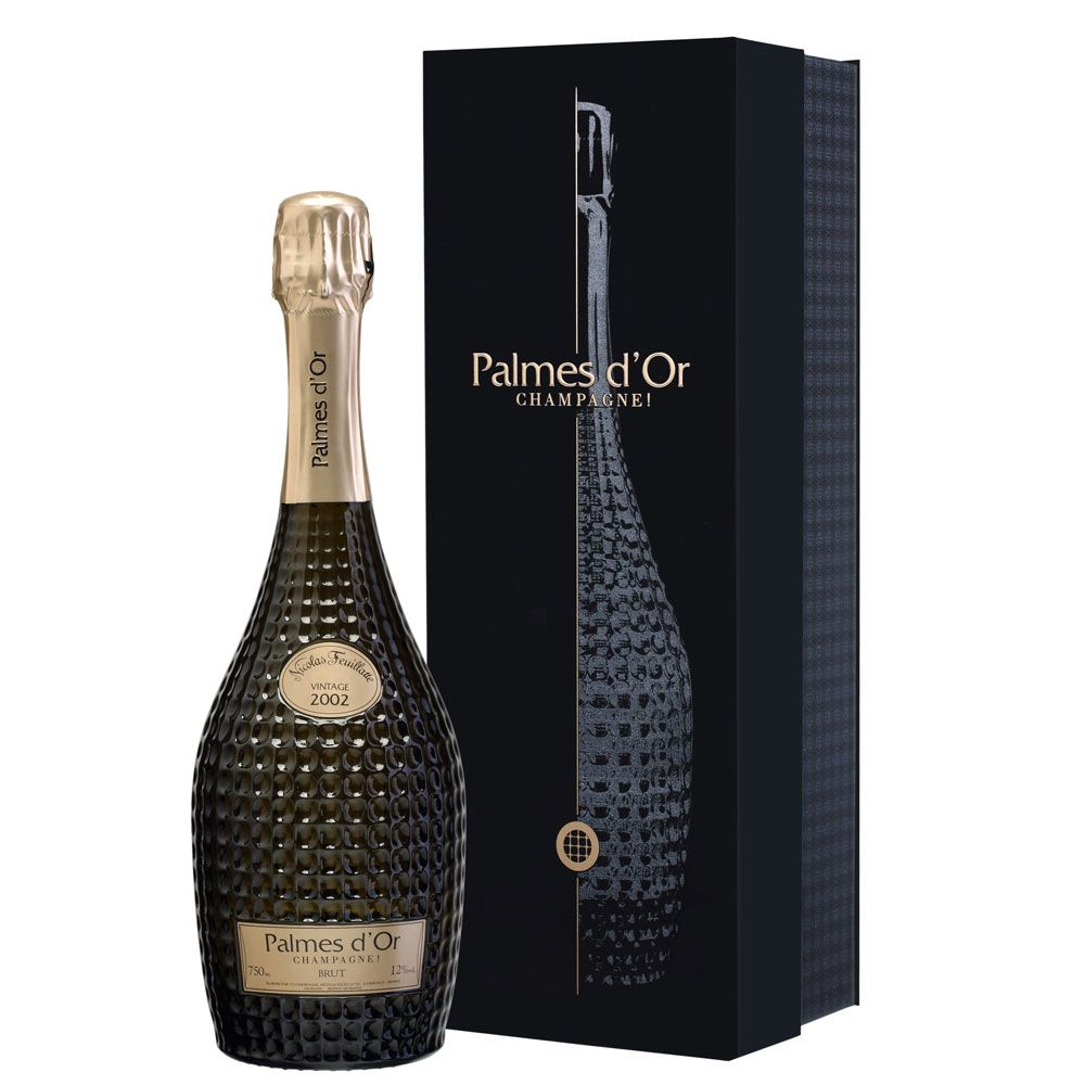 Nicolas Feuillatte Palmes d'Or Grand Cuvee in Gift Box 2002 Front Label