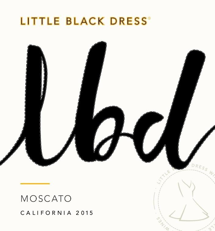 Little Black Dress Moscato 2015 Front Label