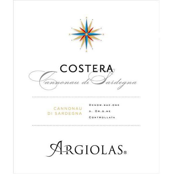 Argiolas Costera 2013 Front Label