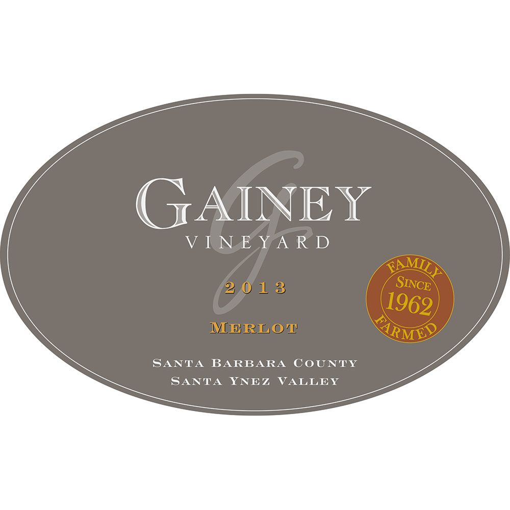 Gainey Merlot 2013 Front Label