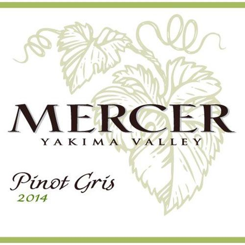Mercer Estates Pinot Gris 2014 Front Label