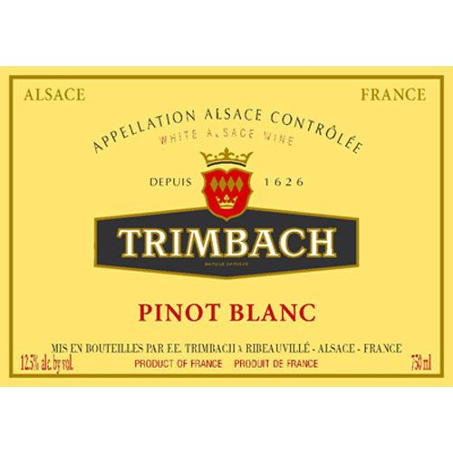 Trimbach Pinot Blanc 2014 Front Label