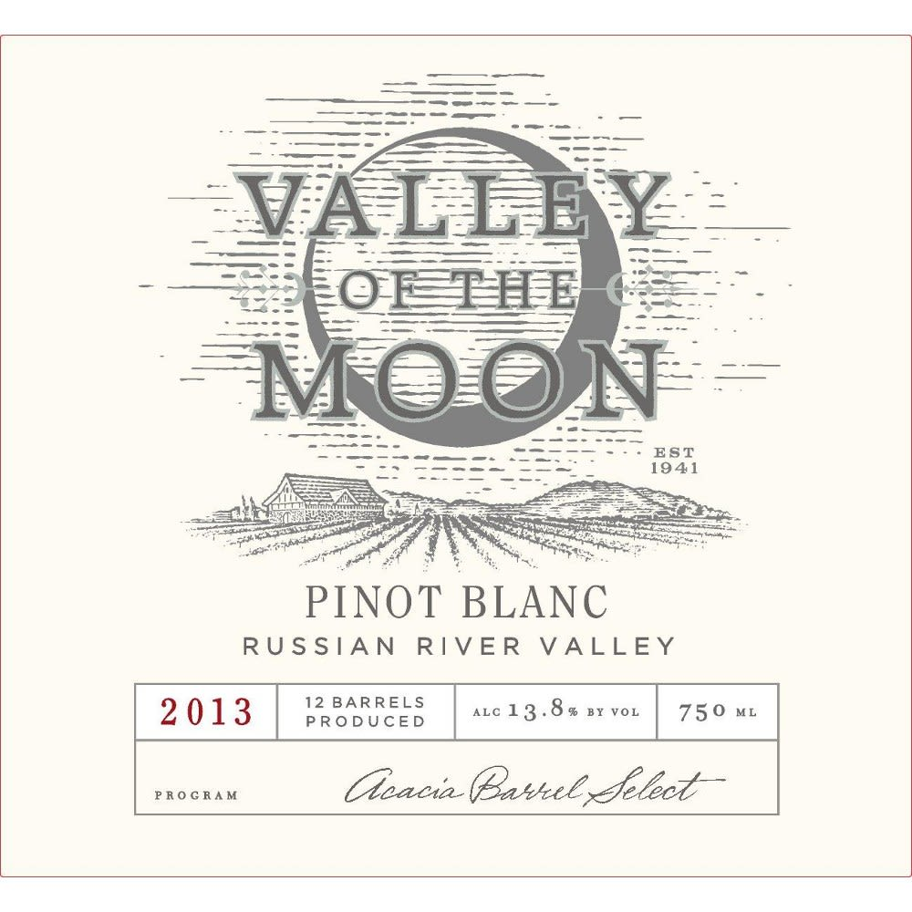 Valley of the Moon Pinot Blanc 2013 Front Label