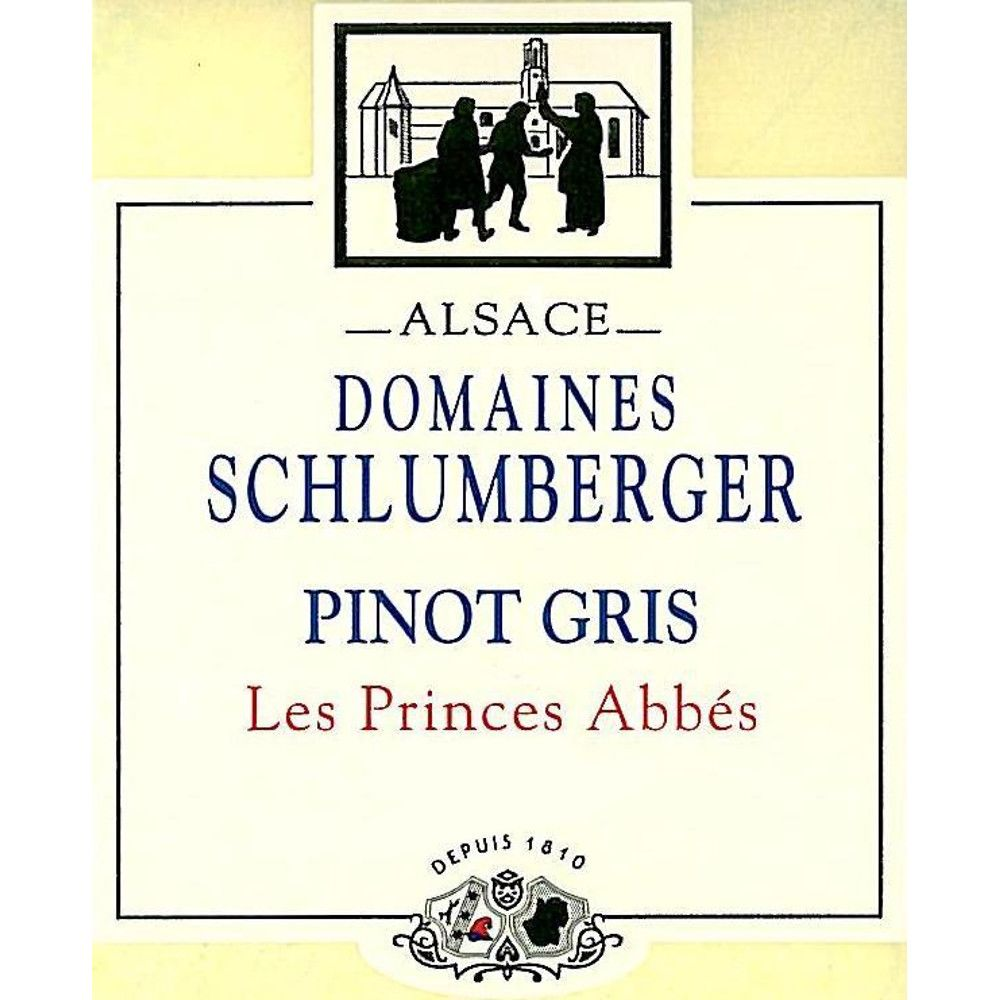 Domaines Schlumberger Les Princes Abbes Pinot Gris 2013 Front Label