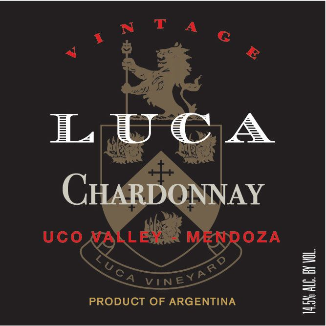Luca Chardonnay 2013 Front Label