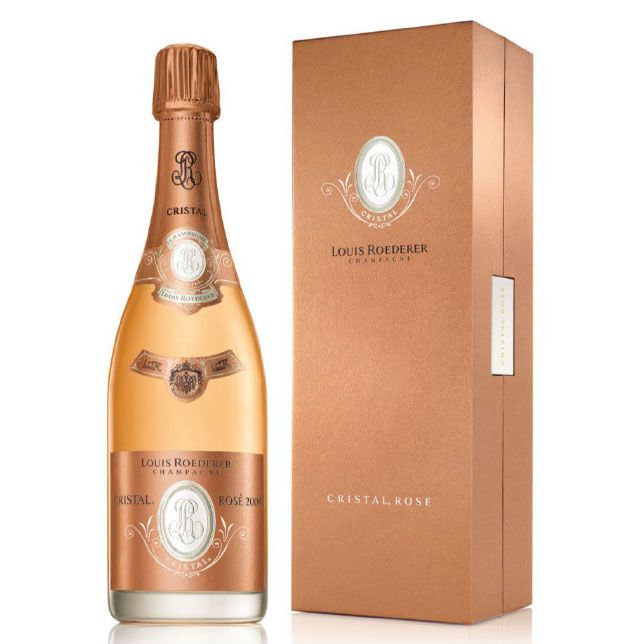 Louis Roederer Cristal Rose with Gift Box 2007 Front Label