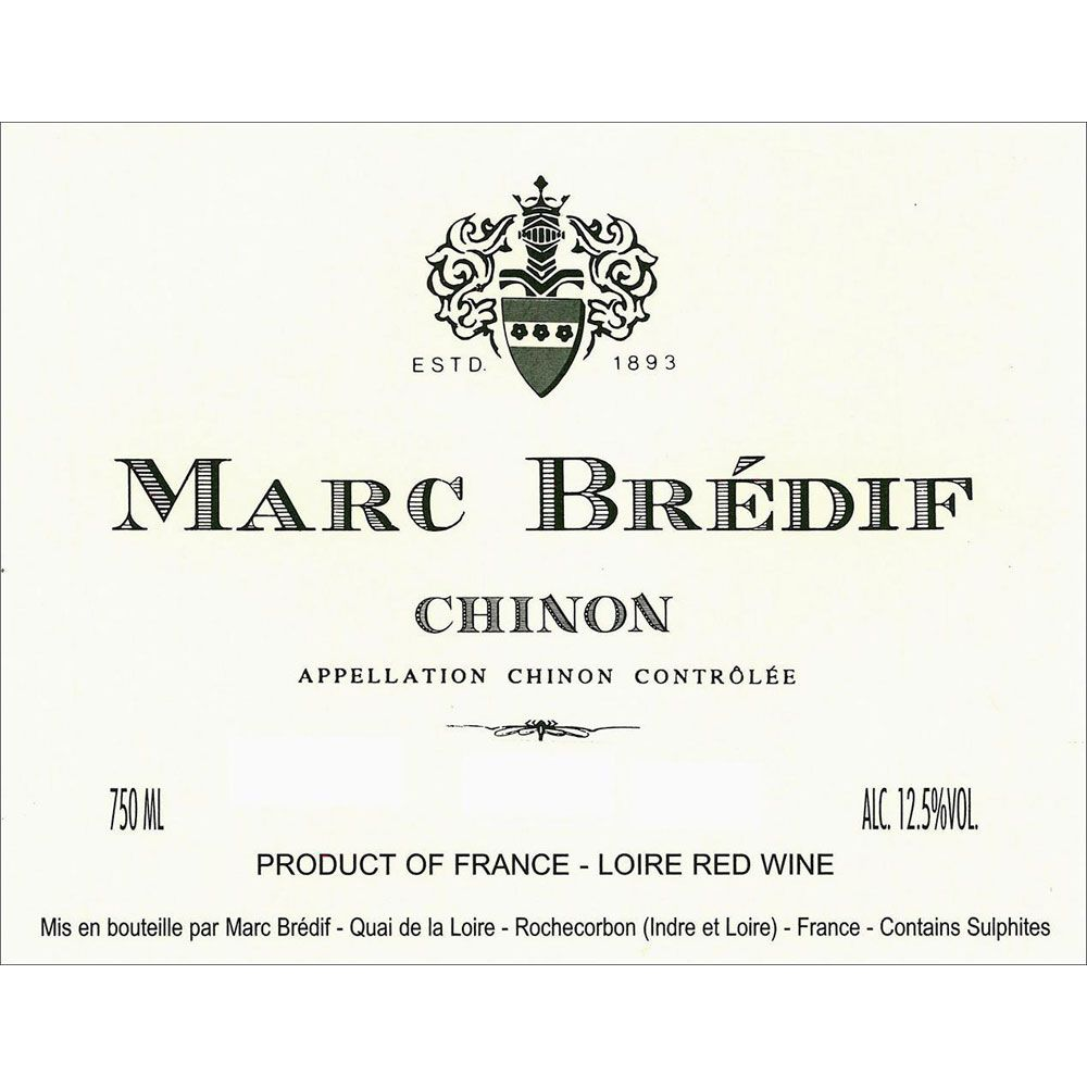 Marc Bredif Chinon 2013 Front Label