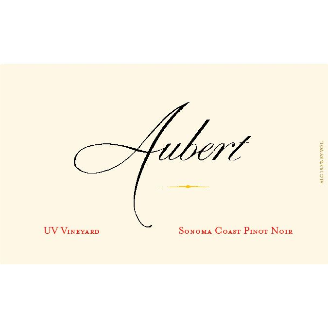 Aubert UV Vineyard Pinot Noir 2013 Front Label