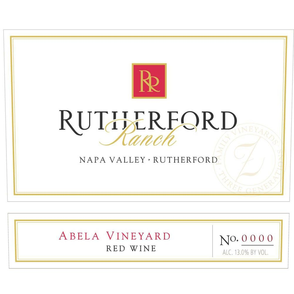Rutherford Ranch Abela Vineyard Cabernet Sauvignon 2009 Front Label