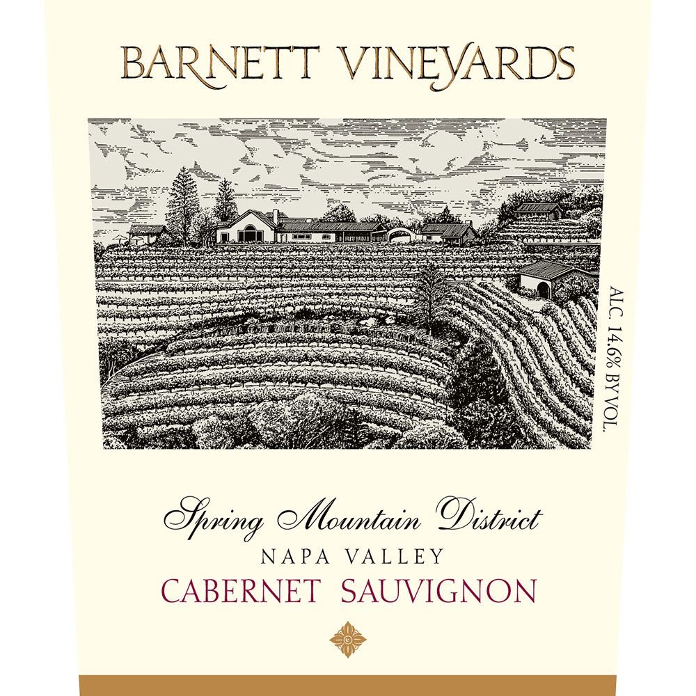 Barnett Vineyards Spring Mountain Cabernet Sauvignon 2008 Front Label