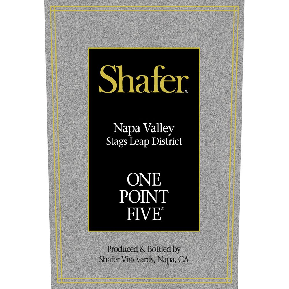 Shafer One Point Five Cabernet Sauvignon (375ML Half-bottle) 2005 Front Label