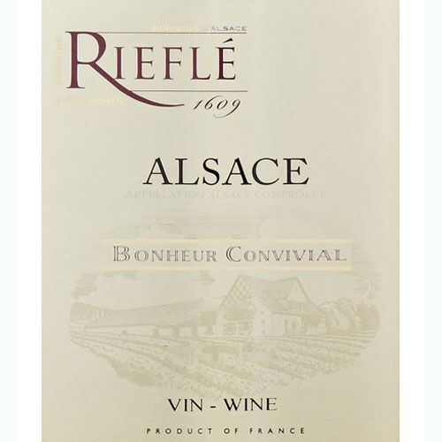 Domaine Riefle Pinot Blanc 2013 Front Label