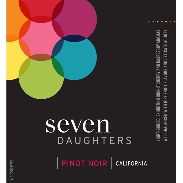Seven Daughters Pinot Noir 2013 Front Label