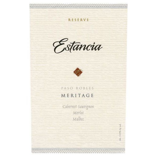 Estancia Reserve Meritage Red (375ML half-bottle) 2013 Front Label