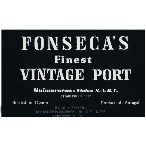Fonseca Vintage Port (signs of seepage) 1975 Front Label