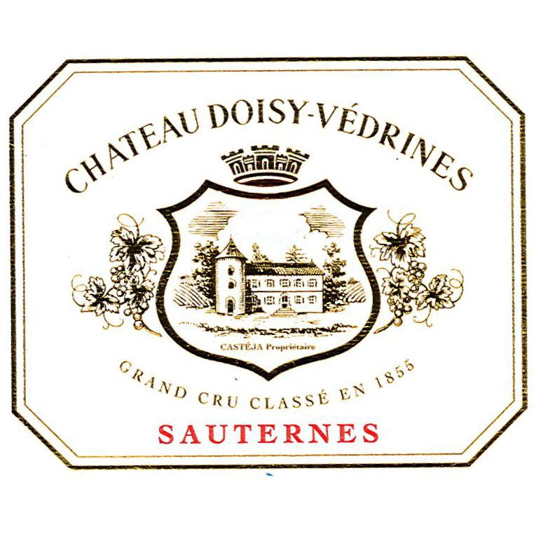Chateau Doisy Vedrines Sauternes (375ML half-bottle) 2015 Front Label