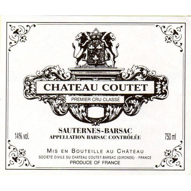 Chateau Coutet (375ML half-bottle) 2015 Front Label