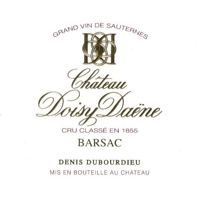 Chateau Doisy Daene (375ML half-bottle) 2015 Front Label
