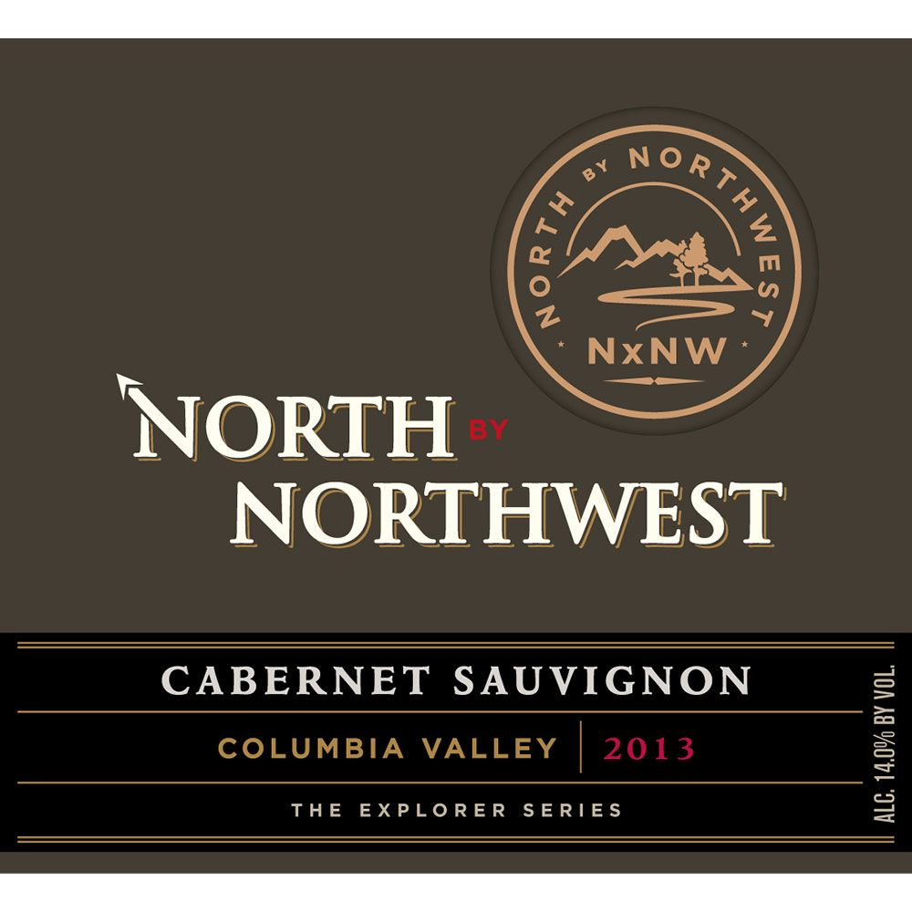 North by Northwest NxNW Columbia Valley Cabernet Sauvignon 2013 Front Label