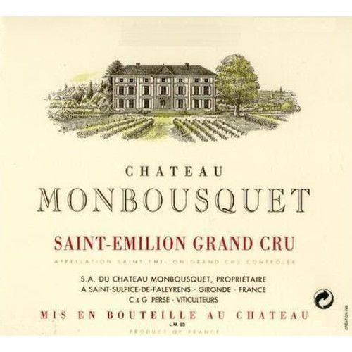 Chateau Monbousquet  2015 Front Label
