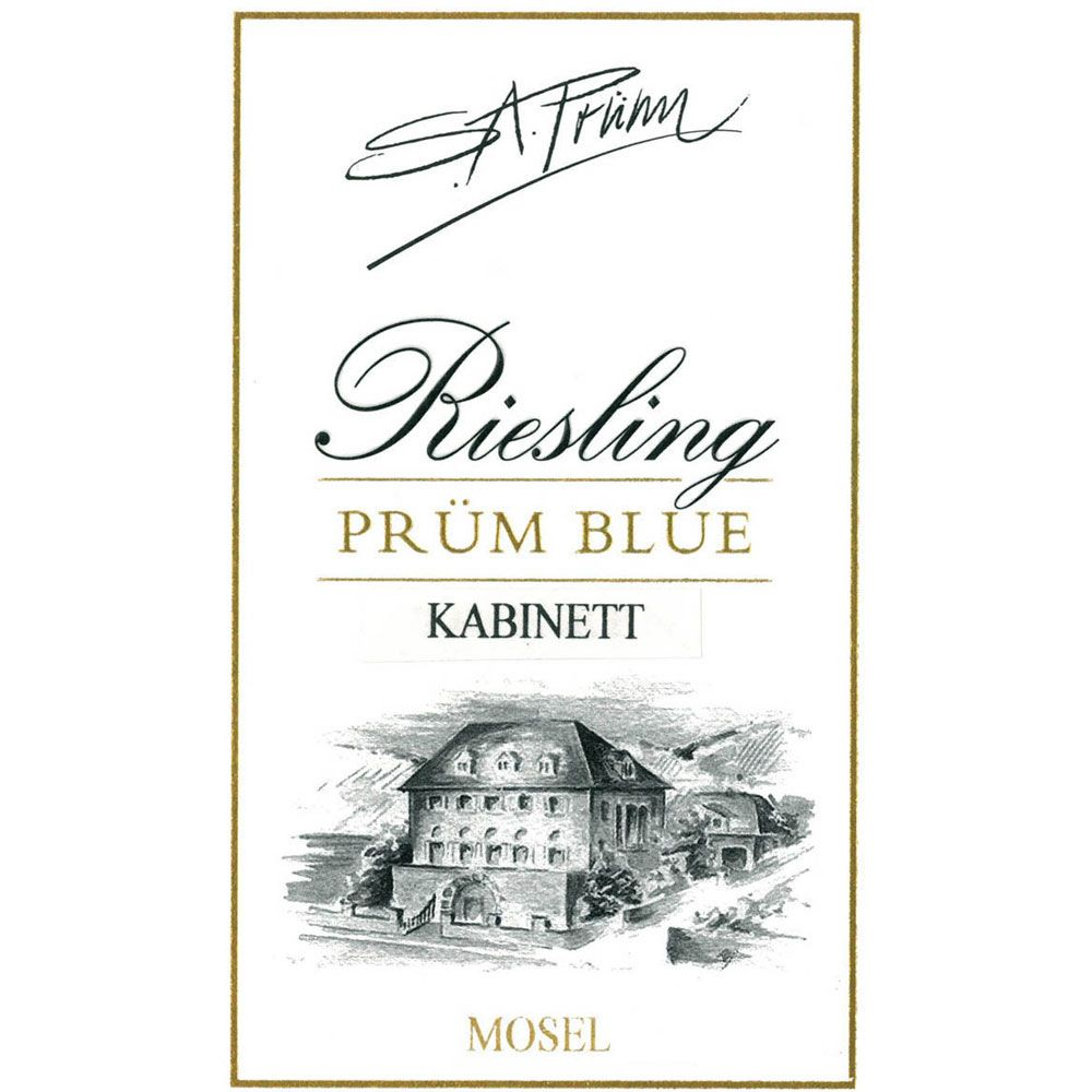 S.A. Prum Blue Riesling Kabinett 2014 Front Label