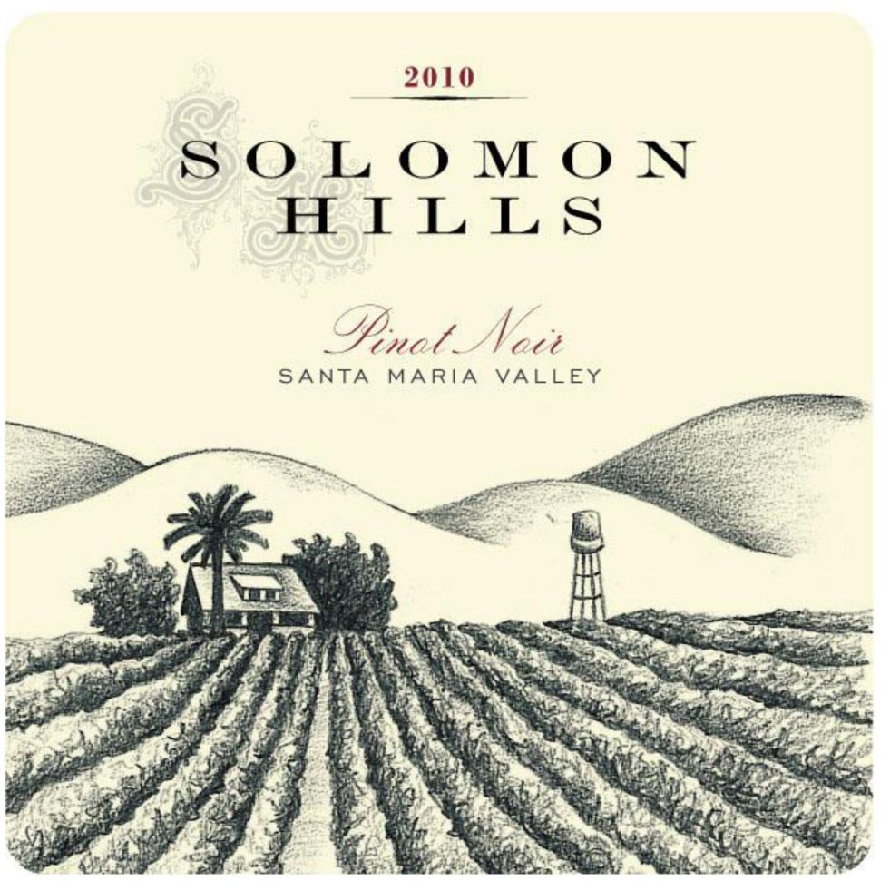 Solomon Hills Estate Pinot Noir 2010 Front Label
