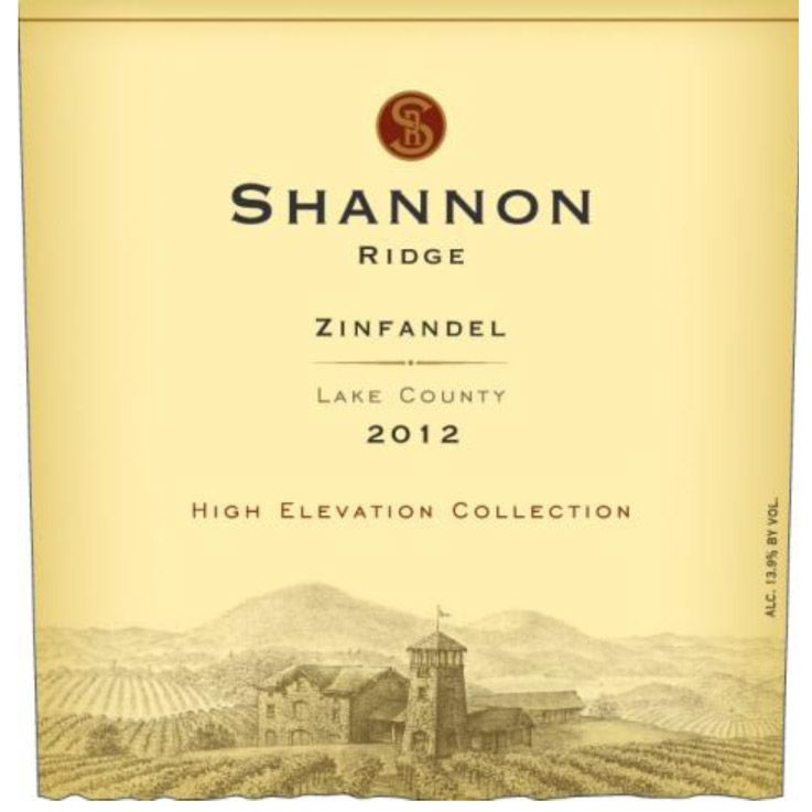 Shannon Ridge High Elevation Zinfandel 2012 Front Label